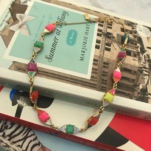 Kate Spade ♠️ multi color chip enamel necklace